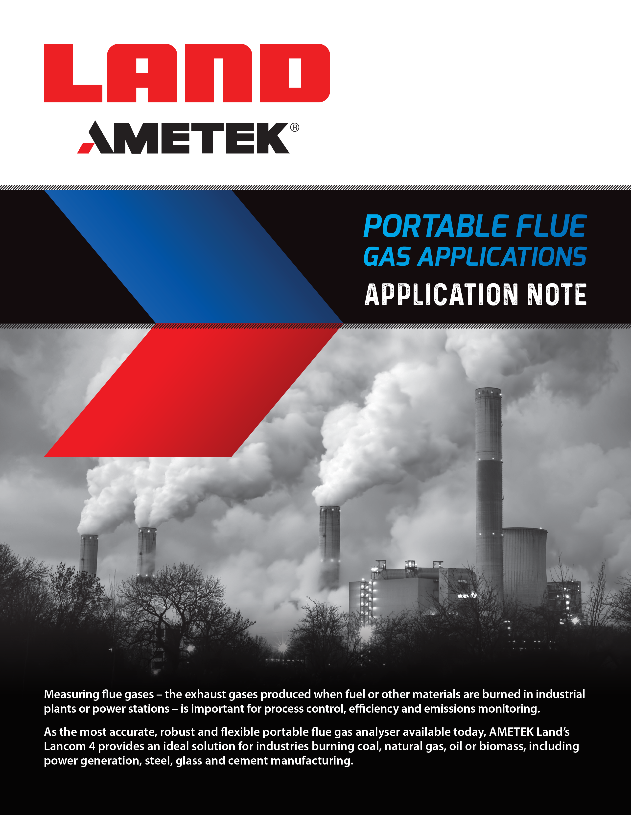Portable Flue Gas Applications - Application Note